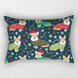 Corgi christmas sweater ugly sweater party with welsh corgis dog lovers dream christmas Rectangular Pillow
