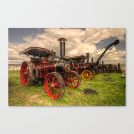 Traction Engines at the Great Dorset  Canvas Print