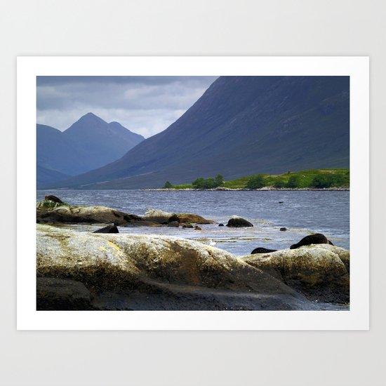 Loch Etive and Beinn Trilleachan Art Print