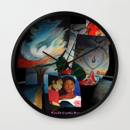 KEVIN CURTIS BARR 'S ART POSTERS Wall Clock