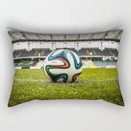 Soccer Ball Field Rectangular Pillow
