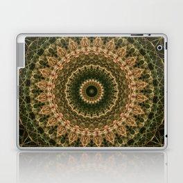 Green and golden mandala Laptop & iPad Skin