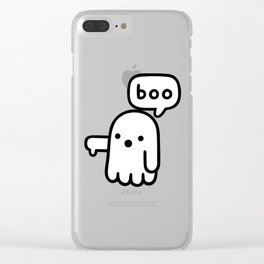 ghost of disapproal Clear iPhone Case