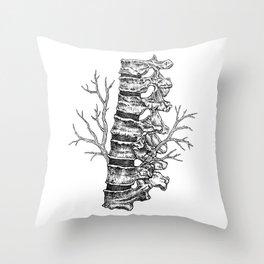 Vertebral column Throw Pillow