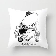 Alwhales Latte Throw Pillow