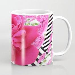 MODERN ABSTRACT CERISE PINK ROSE GARDEN  ART Coffee Mug