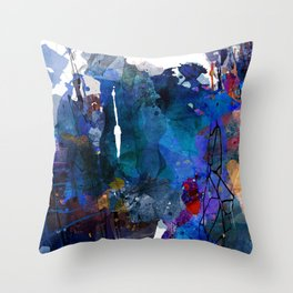 blue motion Throw Pillow