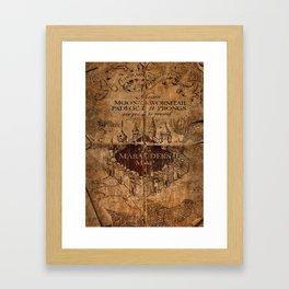 Marauders Map Framed Art Print