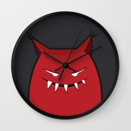 Evil Monster With Pointy Ears Wall Clock
