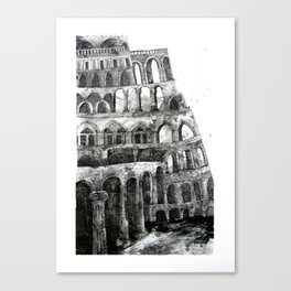babel tower Canvas Print