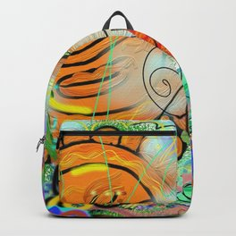 Taino Echoes - Puerto Rico Tribal Ethnic Art Backpack