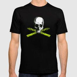 skull asparagus T-shirt