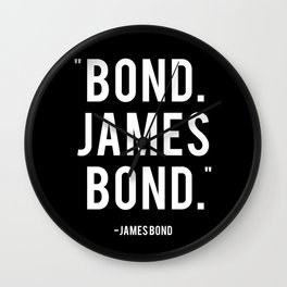 Bond James Bond Quote Wall Clock