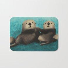 Sea Otters in Love Bath Mat