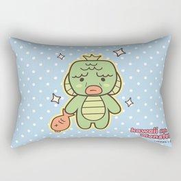 Kawaii Little Swamp Creature Rectangular Pillow