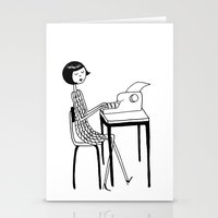 typewriter Stationery Cards featuring Typewriter by flapper doodle
