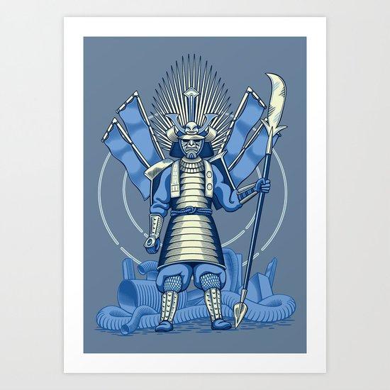 Samurai Nightmare Art Print