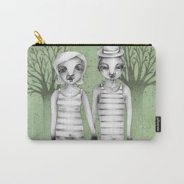 gymnast couple in the forest Carry-All Pouch