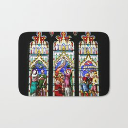Cathedral Stained Glass 3 Bath Mat