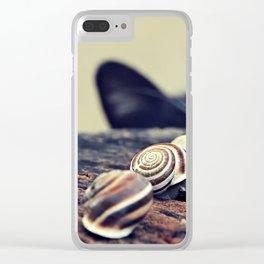 Cat Snails Clear iPhone Case
