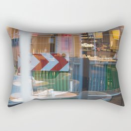Street Reflection red green Rectangular Pillow