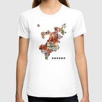 boston T-shirts featuring boston map by bri.buckley