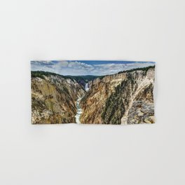 Grand Canyon of Yellowstone River and Lower Falls from Artist Point Hand & Bath Towel