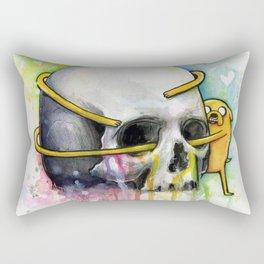 Jake the Dog and Skull Rectangular Pillow