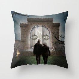 The Gate Throw Pillow