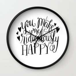 Ridiculously Happy Wall Clock