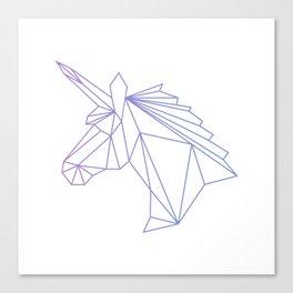 Unicorn Blue-Purple Canvas Print