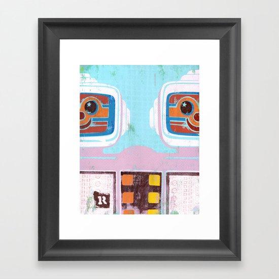 R is for Robots Framed Art Print