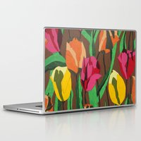 tulips Laptop & iPad Skins featuring Tulips  by Marjolein