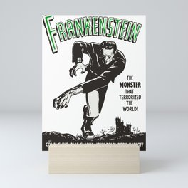 Frankenstein Vintage 1931 Movie Poster, Original Gift Idea, Boris Karloff, Bela Lugosi, Dracula Mini Art Print