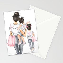 I got it from my mama 2 girls black hair fair skin Stationery Cards