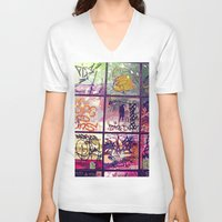 graffiti V-neck T-shirts featuring graffiti by maedel