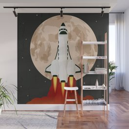 Shuttle launch Wall Mural