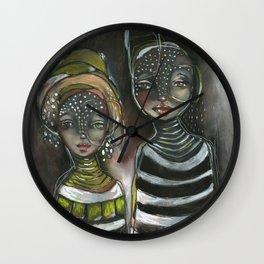 Original Chalk Pastel Illustration by Jenny Manno Wall Clock