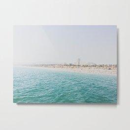 Santa Monica Beach MINT Metal Print