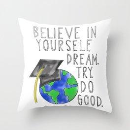 Believe in Yourself - Boy Meets World Graduation Throw Pillow