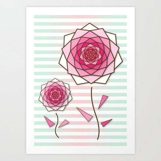 Crystal Flower 4 Art Print