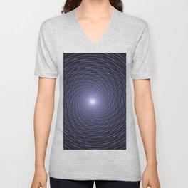 Abstract Fractal Blue Spiral Background Unisex V-Neck