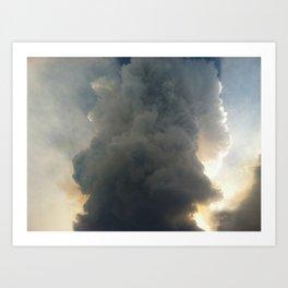Fire Cloud Art Print