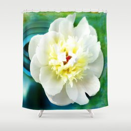 Summer White Shower Curtain