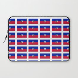 Flag of Haiti-haitan,haitien,port aux princes,cap haitien,carrefour,antilles. Laptop Sleeve