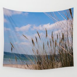 walk by the beach Wall Tapestry
