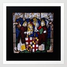 Angels in glass Art Print