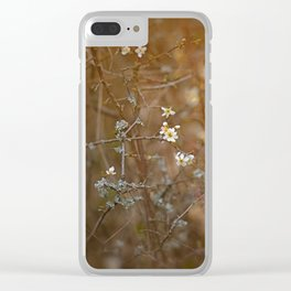 first blossoms Clear iPhone Case