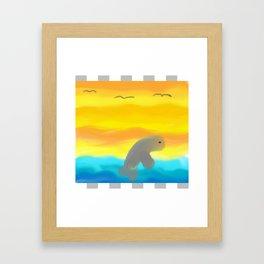 Dolphin In Flight Framed Art Print