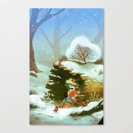 Givre Canvas Print